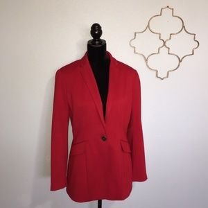 Coldwater Creek cherry red blazer